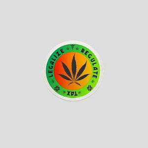 legalize regulate tax round Mini Button