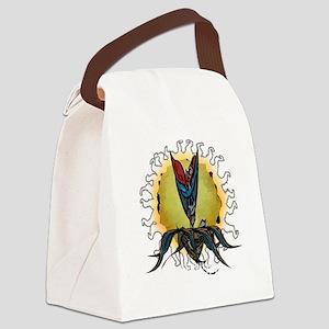 calavera-cafepress-white Canvas Lunch Bag