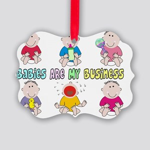 Babies Are My Business 6 kids Picture Ornament