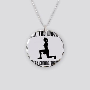lunges Necklace Circle Charm