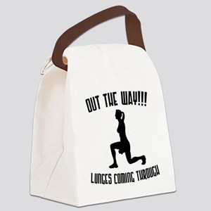 lunges Canvas Lunch Bag