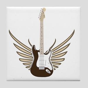 winged-strat copy Tile Coaster