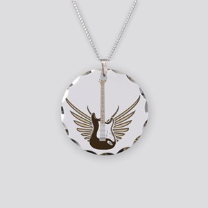 winged-strat copy Necklace Circle Charm