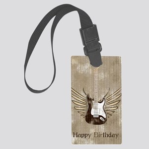 strat-worn-greetings-card copy Large Luggage Tag