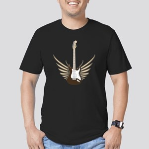 winged-strat copy Men's Fitted T-Shirt (dark)