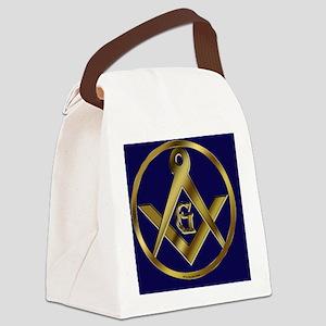Masonic Circle License copy Canvas Lunch Bag