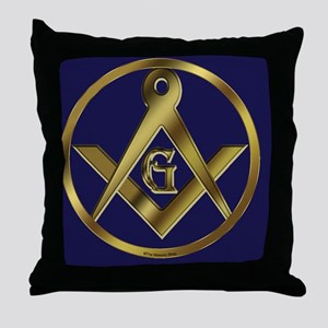 Masonic Circle License copy Throw Pillow
