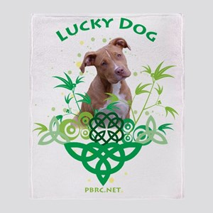 lucky_dog_transparent Throw Blanket