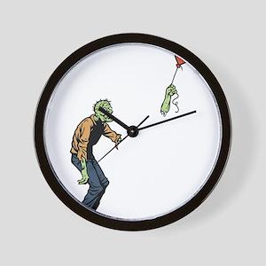 Poor zombie Wall Clock