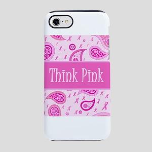 Think Pink Cutie Pink Ribbon iPhone 7 Tough Case