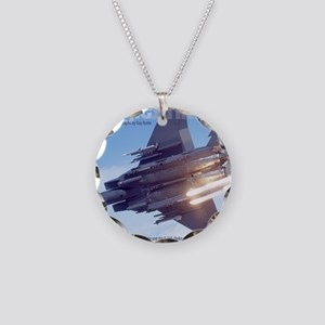 Heavy cover Necklace Circle Charm