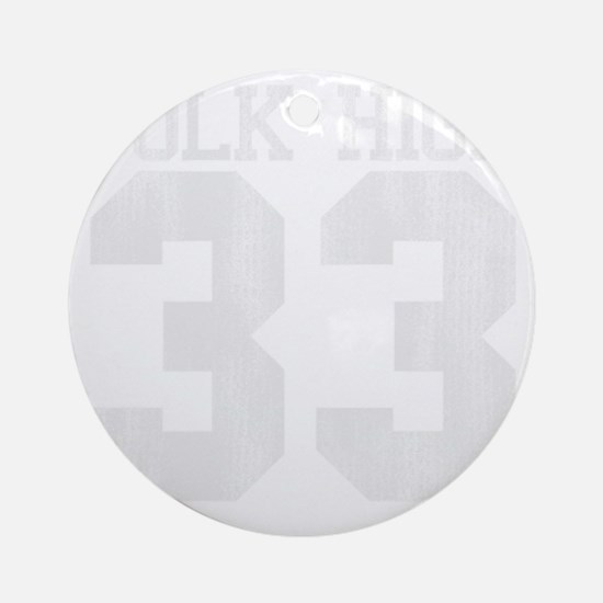polkhigh33-W Round Ornament