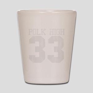 polkhigh33-W Shot Glass