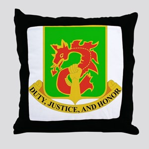 DUI-504TH MILITARY POLICE BATTALION Throw Pillow