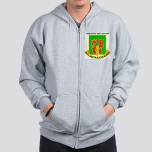 DUI-504TH MILITARY PLC BN  WITH TEXT Zip Hoodie