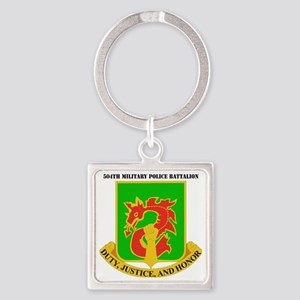 DUI-504TH MILITARY PLC BN  WITH TE Square Keychain