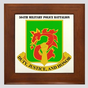 DUI-504TH MILITARY PLC BN  WITH TEXT Framed Tile