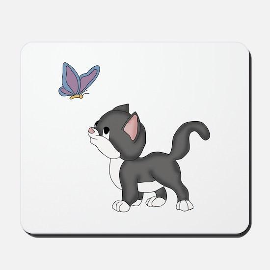 Kitty Found a Friend Mousepad