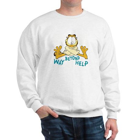 Beyond Help Garfield Sweatshirt