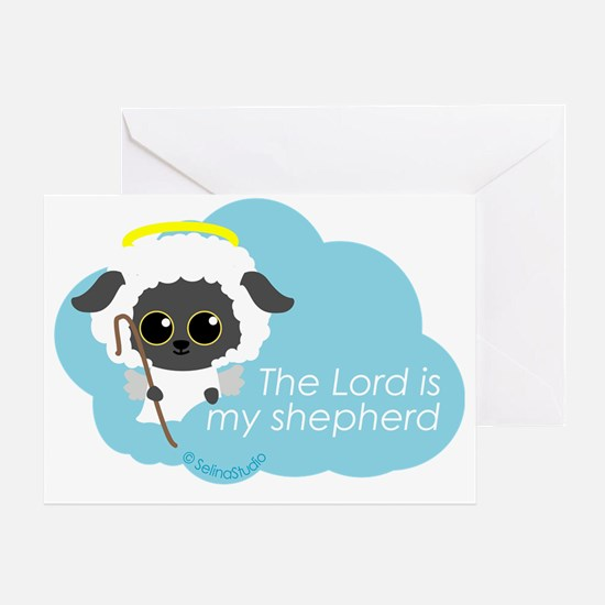 sheep angel Greeting Card