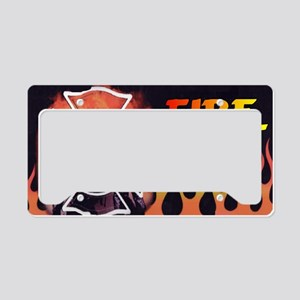 FIRE LIC License Plate Holder