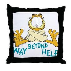 Beyond Help Garfield Throw Pillow