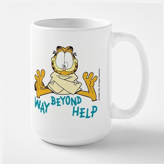 Beyond Help Garfield Large Mug