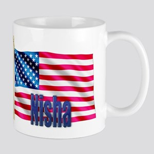 Nisha American Flag Gift Mug
