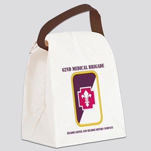 DUI-62ND MED BDE HQ AND HQ COY Canvas Lunch Bag