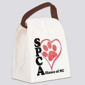 spcaheart Canvas Lunch Bag