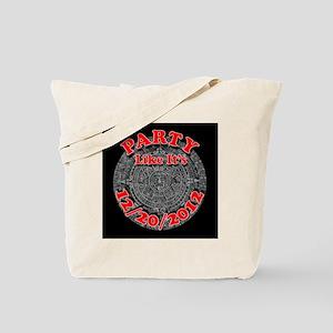 mayan calendar party 2012 (black) Tote Bag