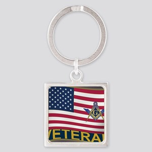 VET LICENSE Square Keychain