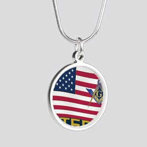 VET LICENSE Silver Round Necklace