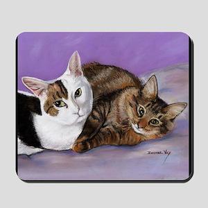 karencats11x11pillow Mousepad