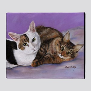 karencats11x11pillow Throw Blanket