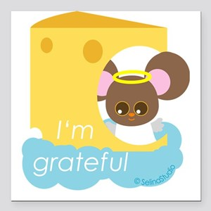 "mice angel Square Car Magnet 3"" x 3"""