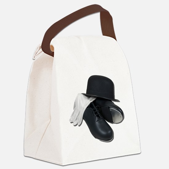 TapShoesBowlerGloves012511 Canvas Lunch Bag