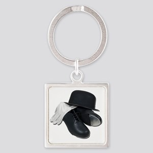 TapShoesBowlerGloves012511 Square Keychain