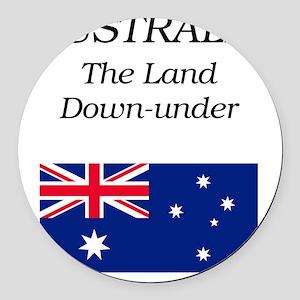 iPad_Flag1 Round Car Magnet