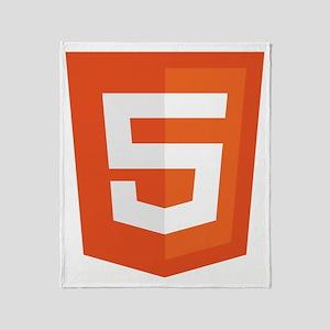HTML5-Orange Throw Blanket