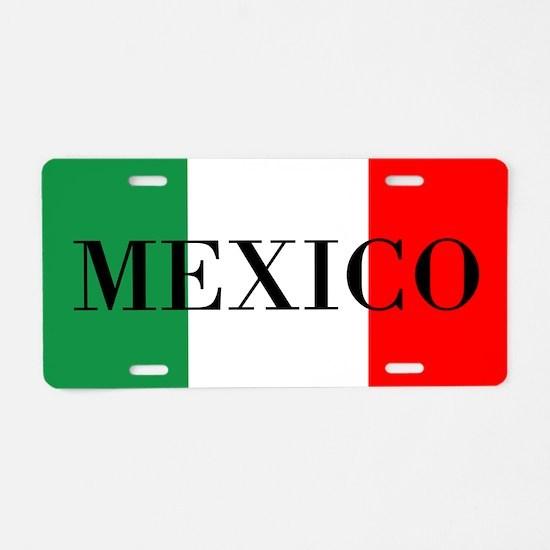 Mexico Flag Color Aluminum License Plate