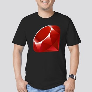ruby Men's Fitted T-Shirt (dark)