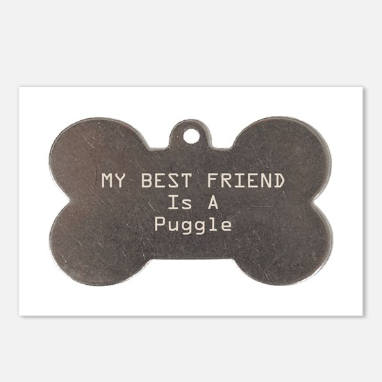 Friend Puggle Postcards (Package of 8)