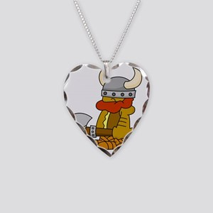 viking Necklace Heart Charm