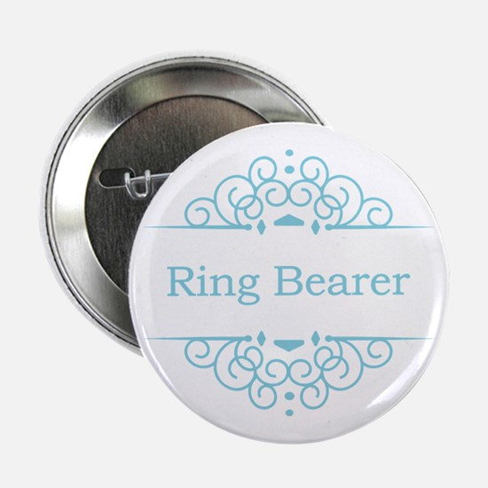 "Ring bearer in blue 2.25"" Button"