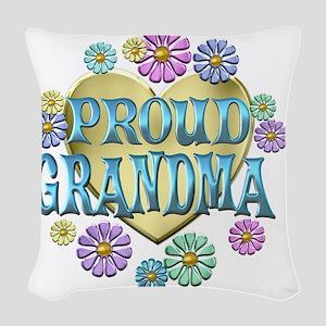 proudgrandma Woven Throw Pillow