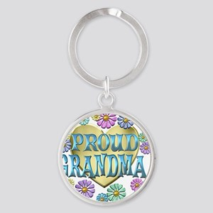 proudgrandma Round Keychain
