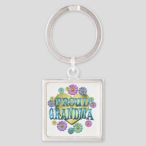 proudgrandma Square Keychain