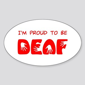 Proud to be Deaf Oval Sticker