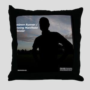 Predawn Runner Calendar - Cover Throw Pillow